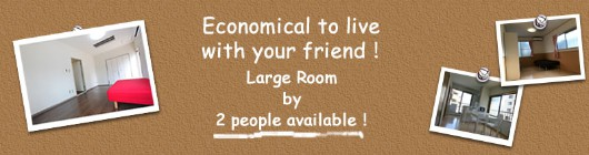 Economical to live with your friend!Large Room by 2 people vailable!